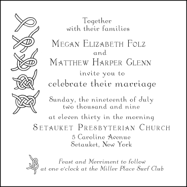 Calligraphic Wedding Invitations – Virginia Dickinson Studio