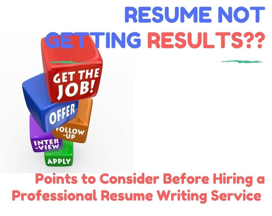 not getting results  consider this before hiring a professional resume writing service to help