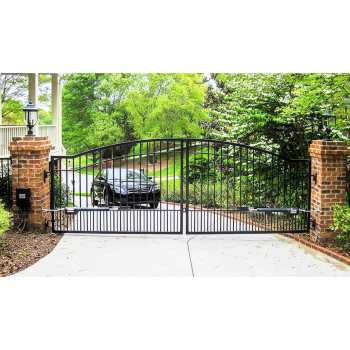 Cascade 14' Dual Steel Driveway Gate 3