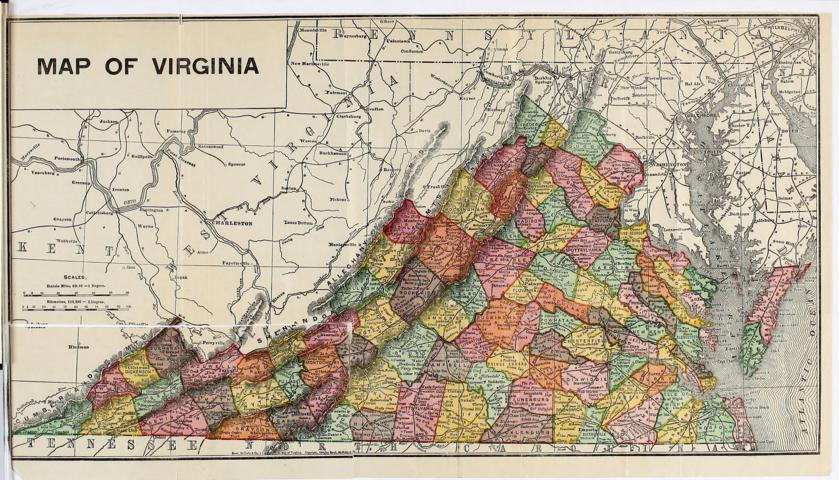 Map of Virginia - Small