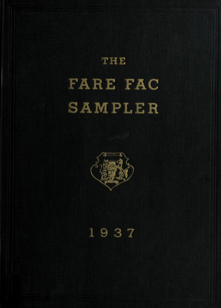 The Fare Fac Sampler 1937