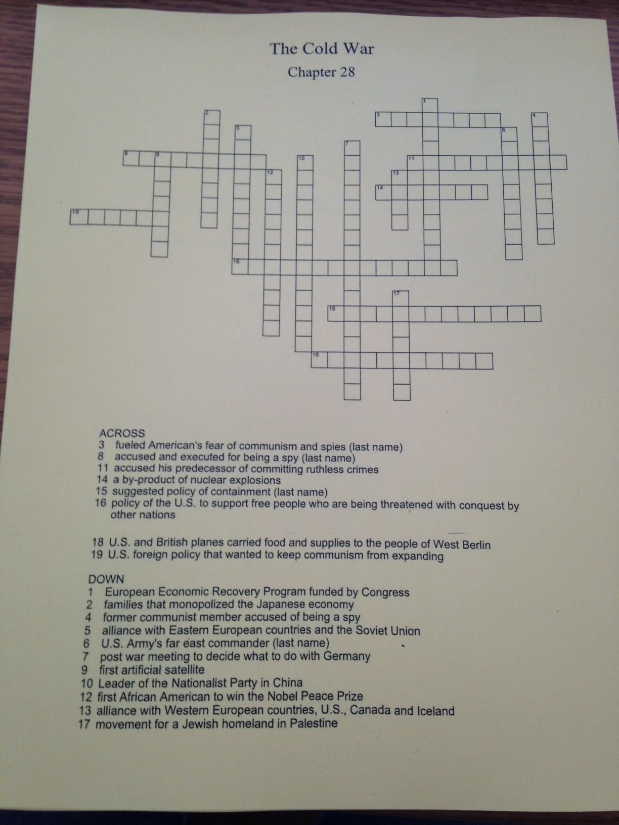 Crossword Puzzle Maker Teacher