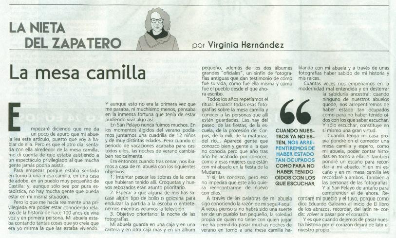 Artículo en La Mar de Campos