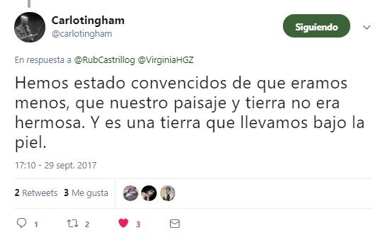 Tweet de Carlota