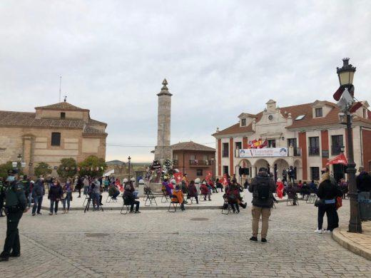 Plaza Mayor de Villalar el 23 de abril