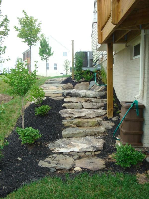 Recent Installation- Fieldstone Steps | Revolutionary Gardens on Side Yard Walkway Ideas id=17297