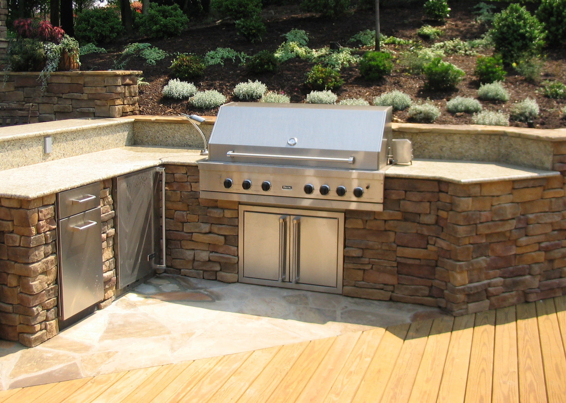 Designing an Outdoor Kitchen | Revolutionary Gardens on Built In Grill Backyard id=39535