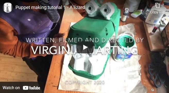 Puppet making tutorial 1 – A lizard