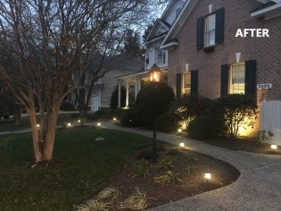 Front Yard Rehab - After (Nighttime)
