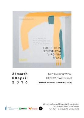 Solo Show · SYNESTHESIA · Virginia Rivas · WIPO World Intellectual Property Organization United Nations · Geneva (Switzerland)