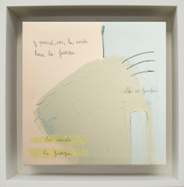 La unión. La fuerza · 2016 · 26 x 26 cm /private collection/