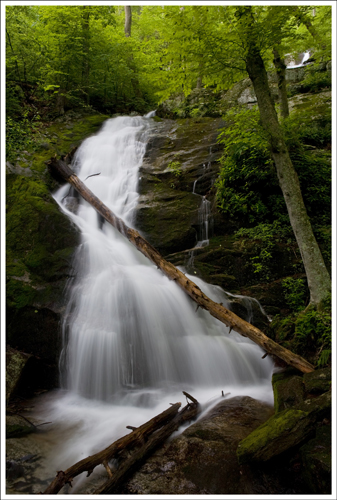 This is the first large cascade you'll encounter on the hike.