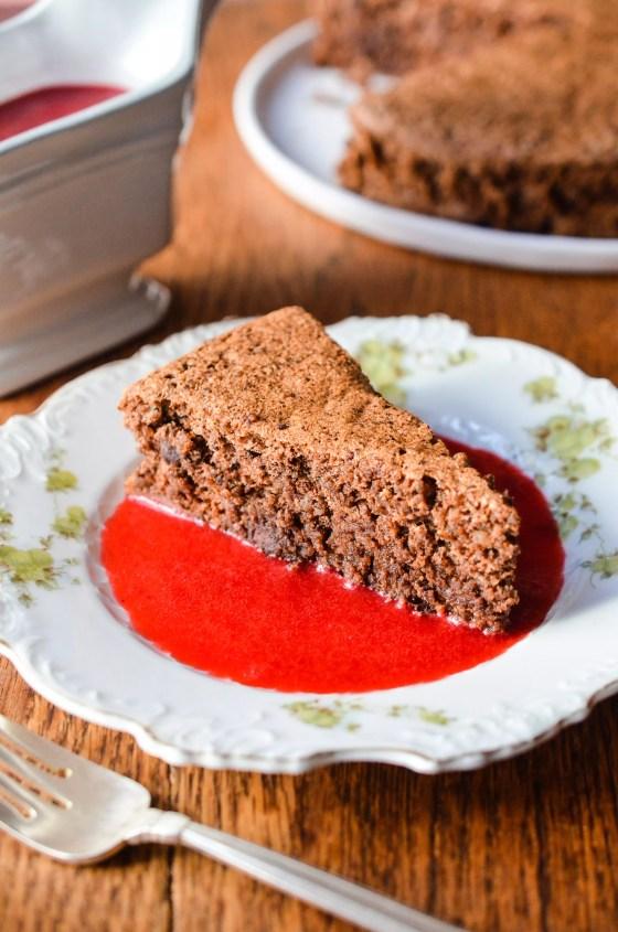 Gluten Free Chocolate Nut Cake on www.virginiawillis.com