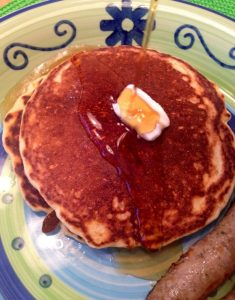 North and South: Massachusetts Maple Syrup and Georgia Cornmeal Pancakes