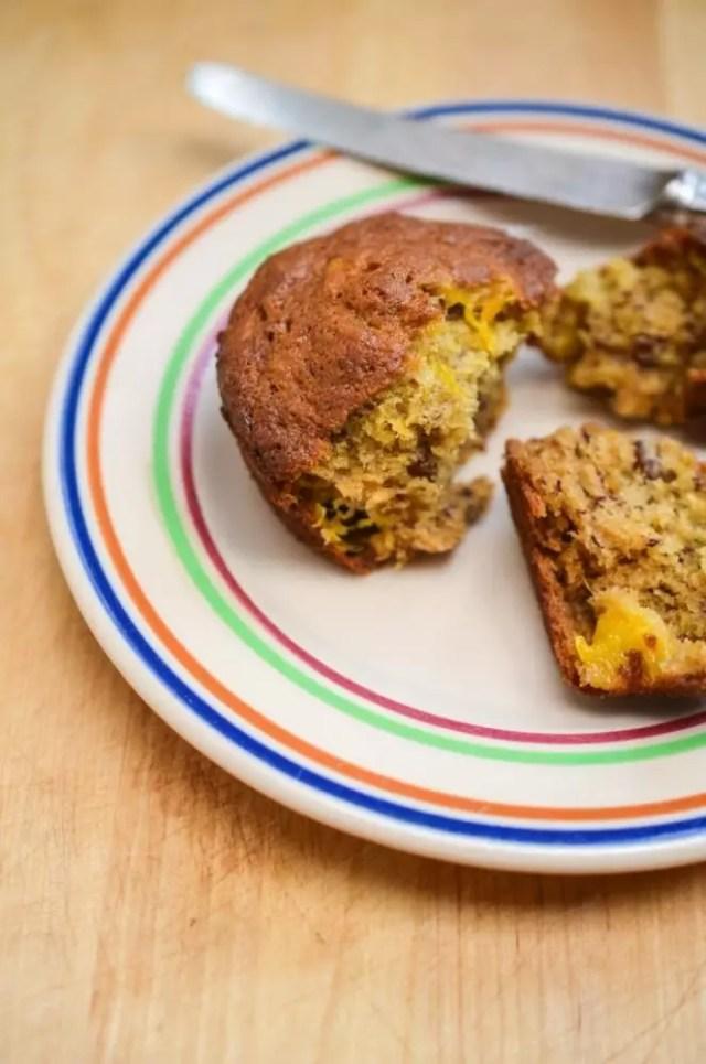 Banana Mango Muffins on www.virginiawillis.com