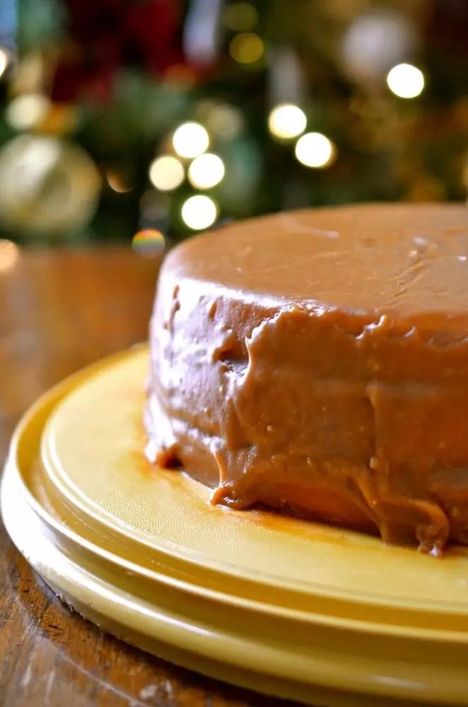 caramel cake on www.virginiawillis.com