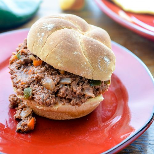 Homemade and Healthy Oven Roasted Sloppy Joes