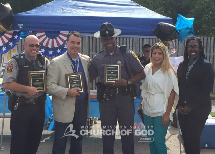 Each police department received a plaque of appreciation for their hard work in keeping the community safe.