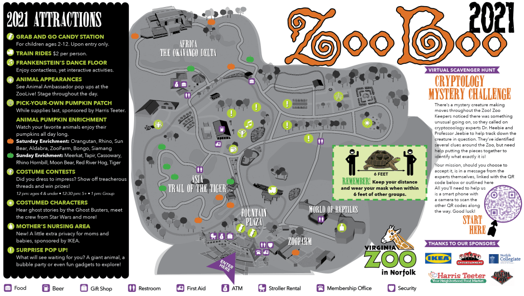 Map of ZooBoo event