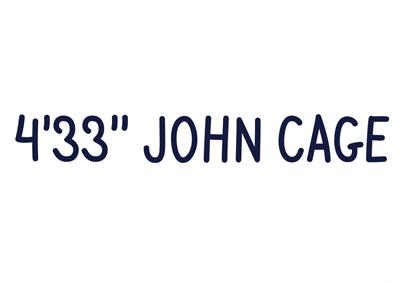 4'33», John Cage