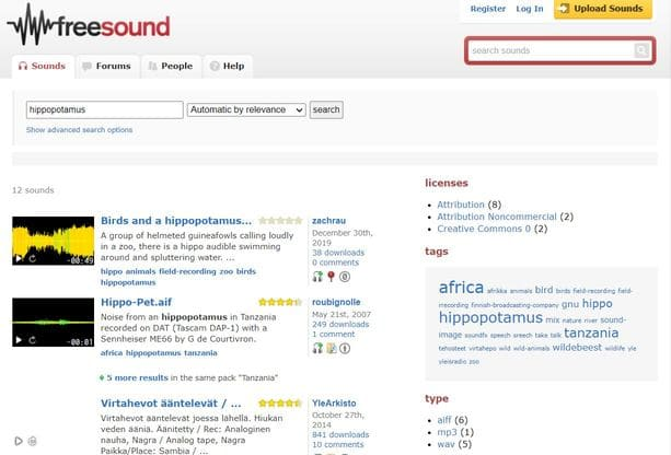 freesound foley sound noise music creative commons free