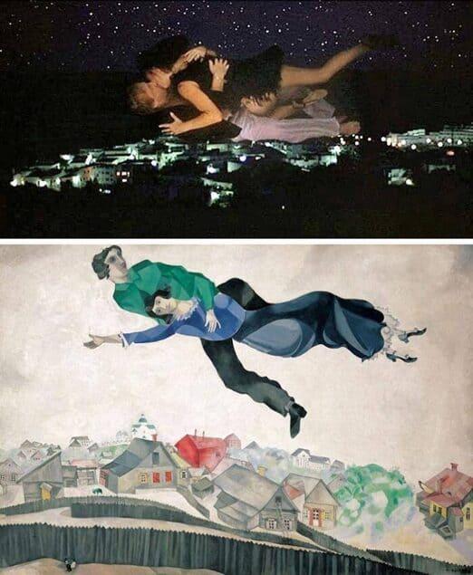 cinema e pittura: Sexy Beast, Jonathan Glazer. Sulla città, Marc Chagall.