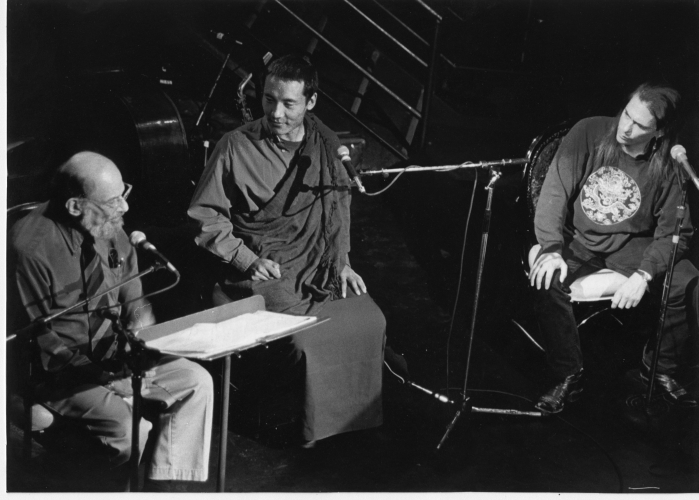 Allen Ginsberg, Anam Thubten Rinpoche and Marc Olmsted - October 1996, DNA Lounge, San Francisco.