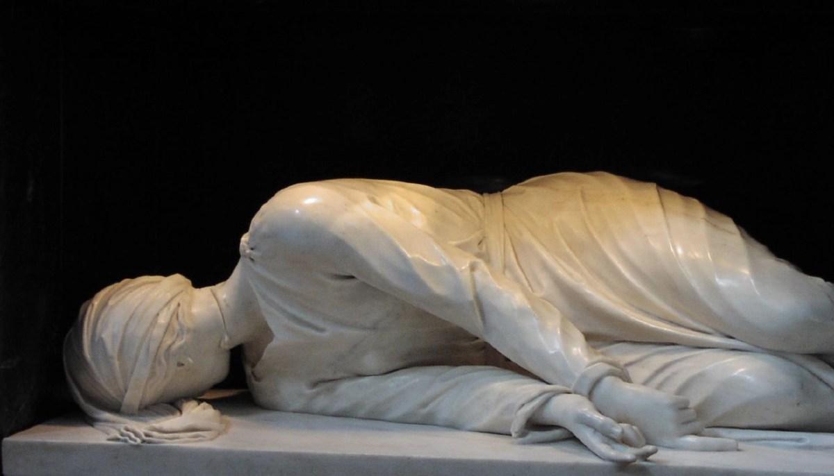 Stefano Maderno, Santa Cecilia (1600, marmo bianco, basilica di Santa Cecilia in Trastevere)
