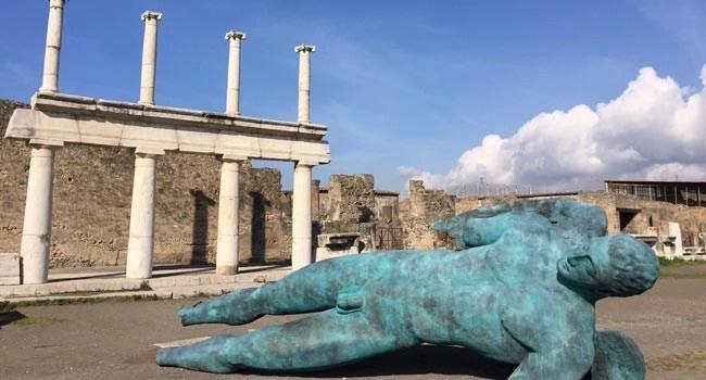 Igor Mitoraj a Pompei (photo credits: Riccardo Siano)