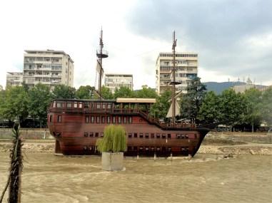 Skopje - Restaurant in the river