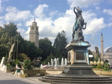 Bitola - 17th century Clock Tower and guess who - Alexander the Great.