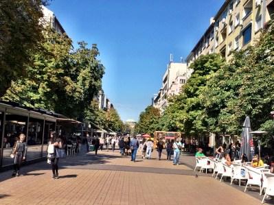 Vitosha Boulevard - where the touristseat.