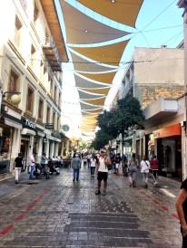 Walking to the Green Line down Ledra Street