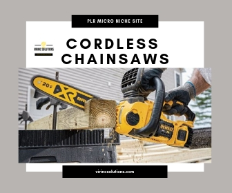 Affiliate Website - Cordless Chainsaws