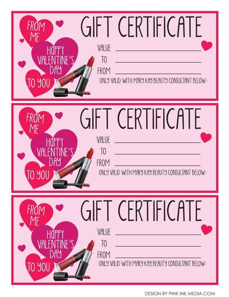 Mary Kay Gift Certificate Pdf Creativepoem