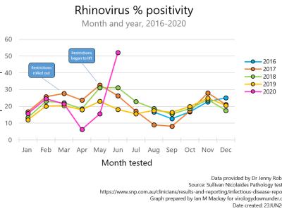 Rhinovirus rampant or testing triumphant?