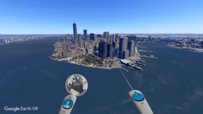 Вид на город Google Earth VR