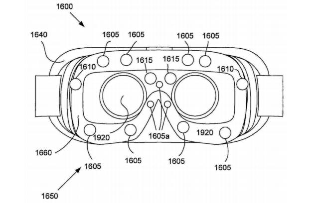 Патент Samsung Gear VR 2 датчики в глазах