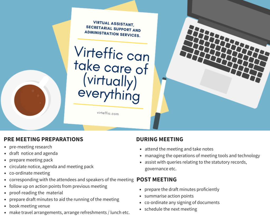 virteffic services minutes and meetings