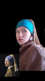 Tütarlaps pärlkõrvarõngaga