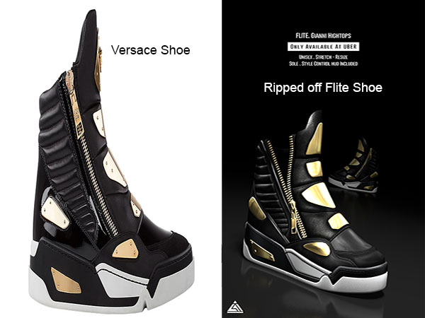 Flite rips off Versace Shoes