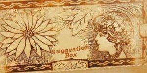 vintage pyrography box