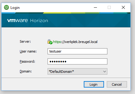 Horizon 7 8 Authentication can not proceed (Domain Name is invalid
