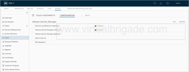 VIDM Status Disabled on NSX Manager