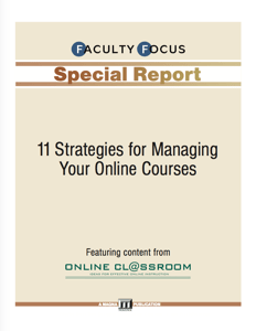 11 Strategies for Managing Online Courses Booklet Icon