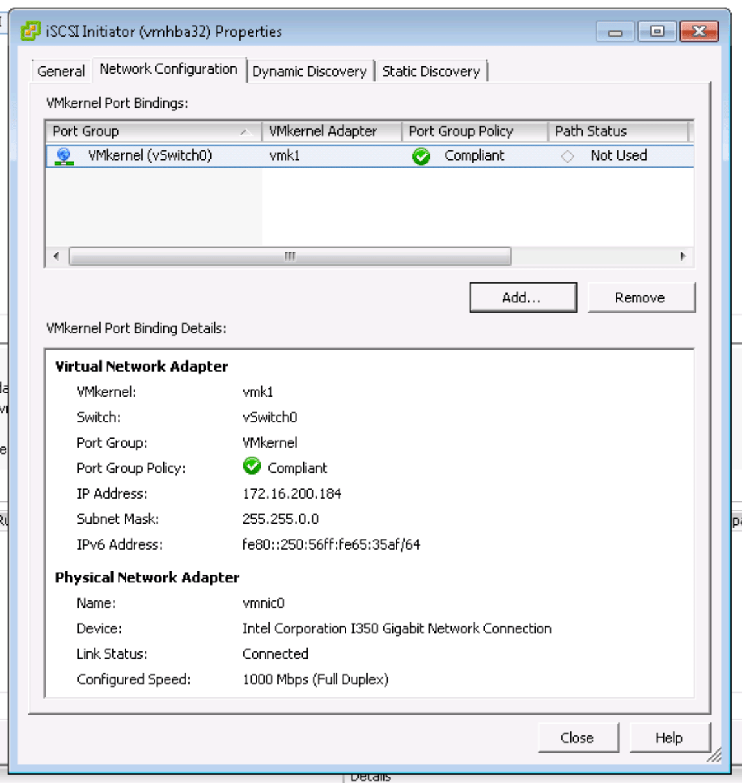 VMware iSCSI Setup Steps