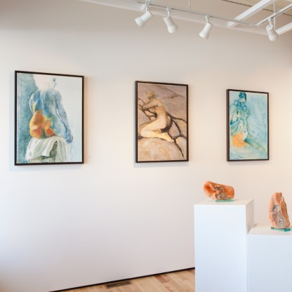 Paintings by David Kearn, Installation View at Sivarulrasa Gallery in Almonte, Ontario