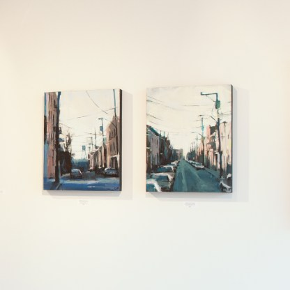 Paintings by Jeremy Price at Sivarulrasa Gallery in Almonte, Ontario