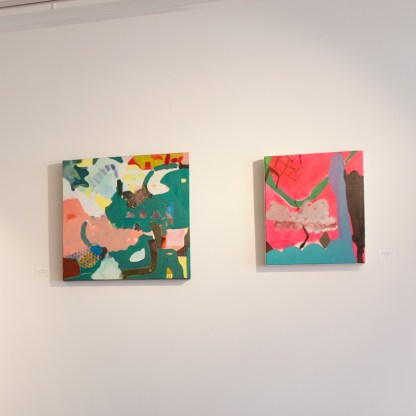 Paintings by Mirana Zuger, Installation View at Sivarulrasa Gallery in Almonte, Ontario