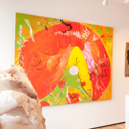 Painting by Mirana Zuger, Installation View at Sivarulrasa Gallery in Almonte, Ontario